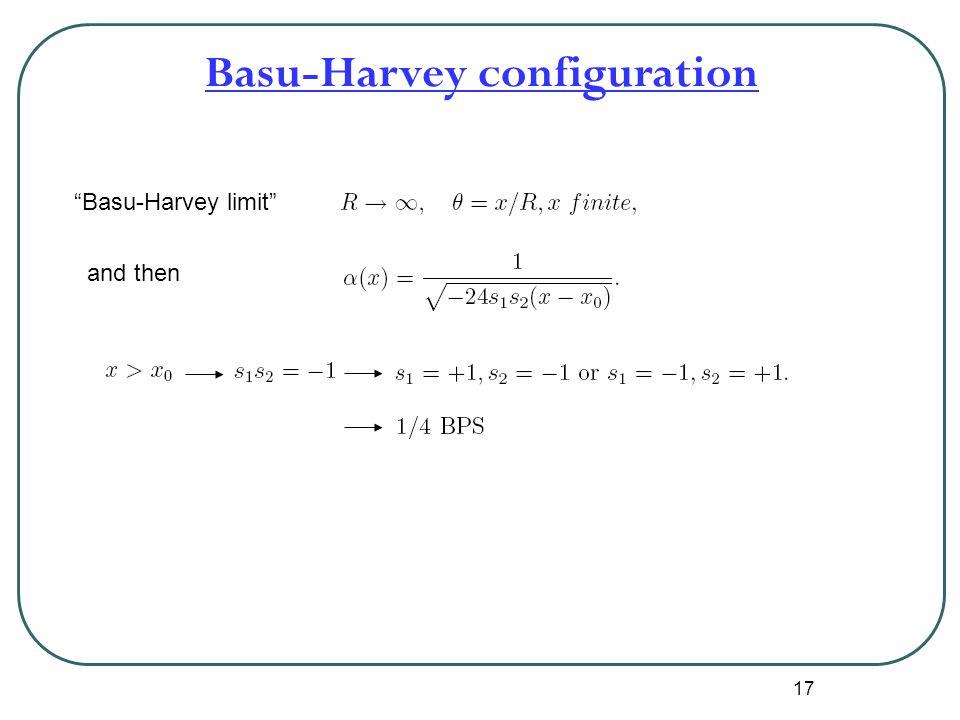 "17 Basu-Harvey configuration ""Basu-Harvey limit"" and then"