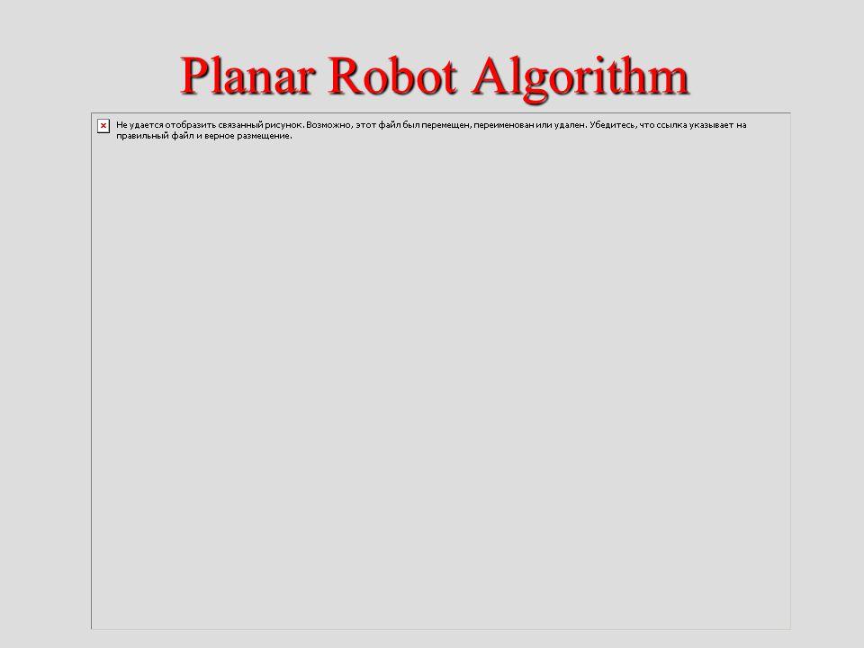 Planar Robot Algorithm