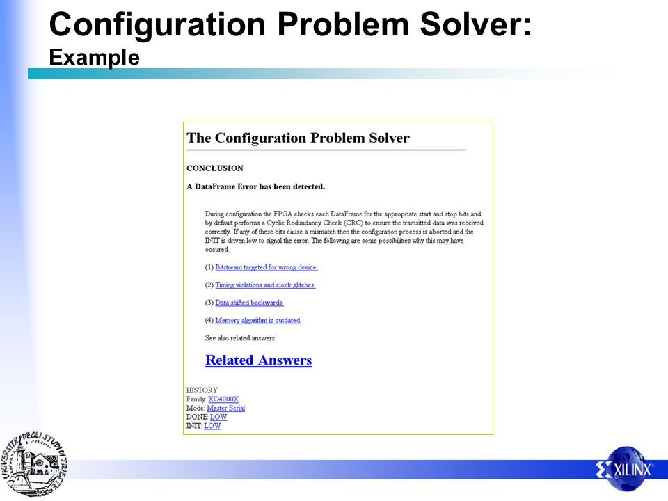 Configuration Problem Solver: Example