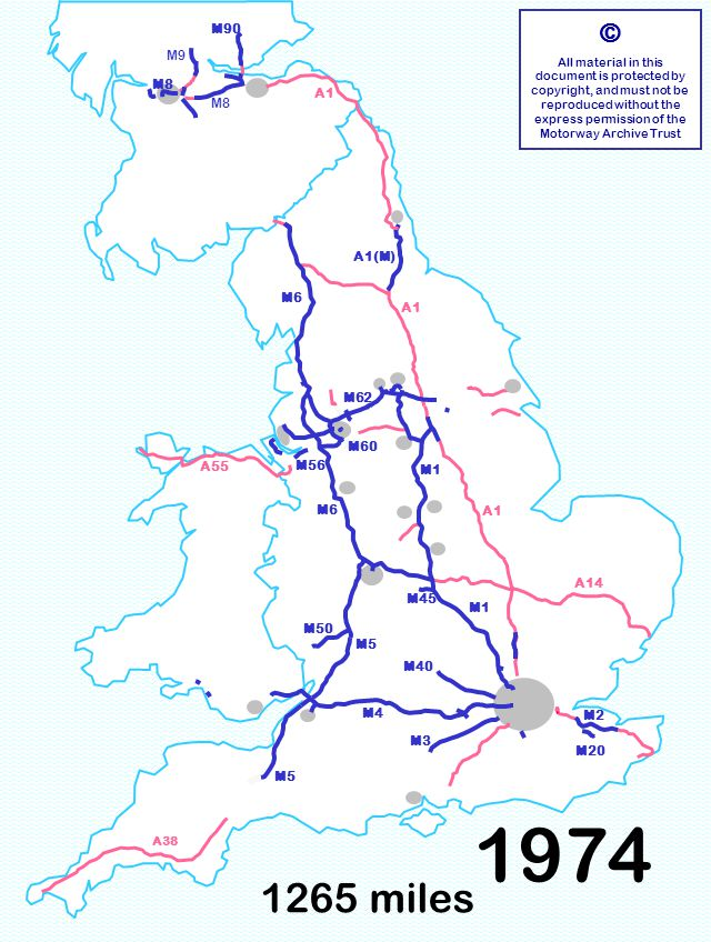 M60 M8 1265 miles © All material in this document is protected by copyright, and must not be reproduced without the express permission of the Motorway Archive Trust M3 M6 M1 M40 M5 M1 A1 A14 M6 A55 M60 M90 M8 A1 A38 M4 M8 M9 M50 M56 M62 M2 M20 M5 M45 A1(M) 1974
