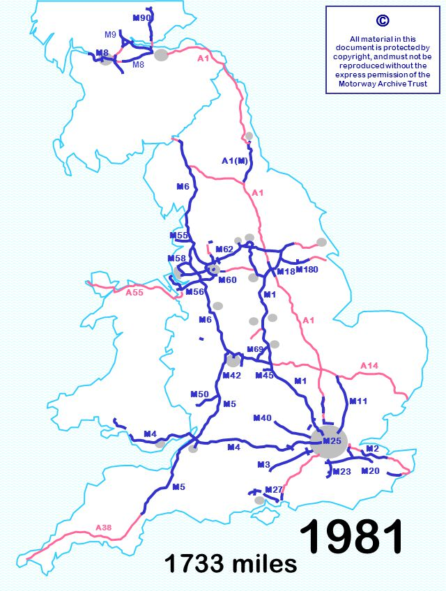 M40 M18 M58 1733 miles © All material in this document is protected by copyright, and must not be reproduced without the express permission of the Motorway Archive Trust M3 M6 M1 M25 M11 M40 M5 M1 A1 A14 M6 A55 M23 M180 M55 M60 M18 M90 M8 A1 A38 M4 M8 M9 M50 M56 M62 M27 M58 M4 M69 M2 M20 M5 M42M45 A1(M) 1981