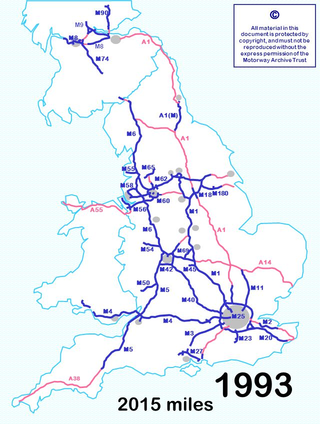 M42M45 M58 2015 miles © All material in this document is protected by copyright, and must not be reproduced without the express permission of the Motorway Archive Trust M3 M6 M1 M25 M11 M40 M5 M1 A1 A14 M6 A55 M23 M180 A1(M) M55 M60 M18 M90 M8 A1 A38 M4 M8 M9 M50 M54 M56 M65 M62 M27 M58 M4 M69 M2 M20 M74 M5 M42M45 1993