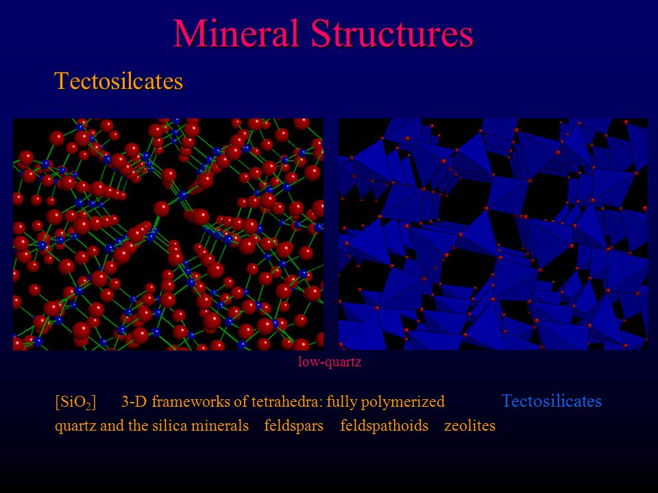 Mineral Structures Phyllosilicates [Si 2 O 5 ] 2- Sheets of tetrahedra Phyllosilicates micas talc clay minerals serpentine