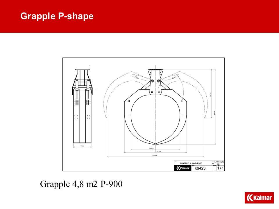 Grapple P-shape Grapple 4,8 m2 P-900