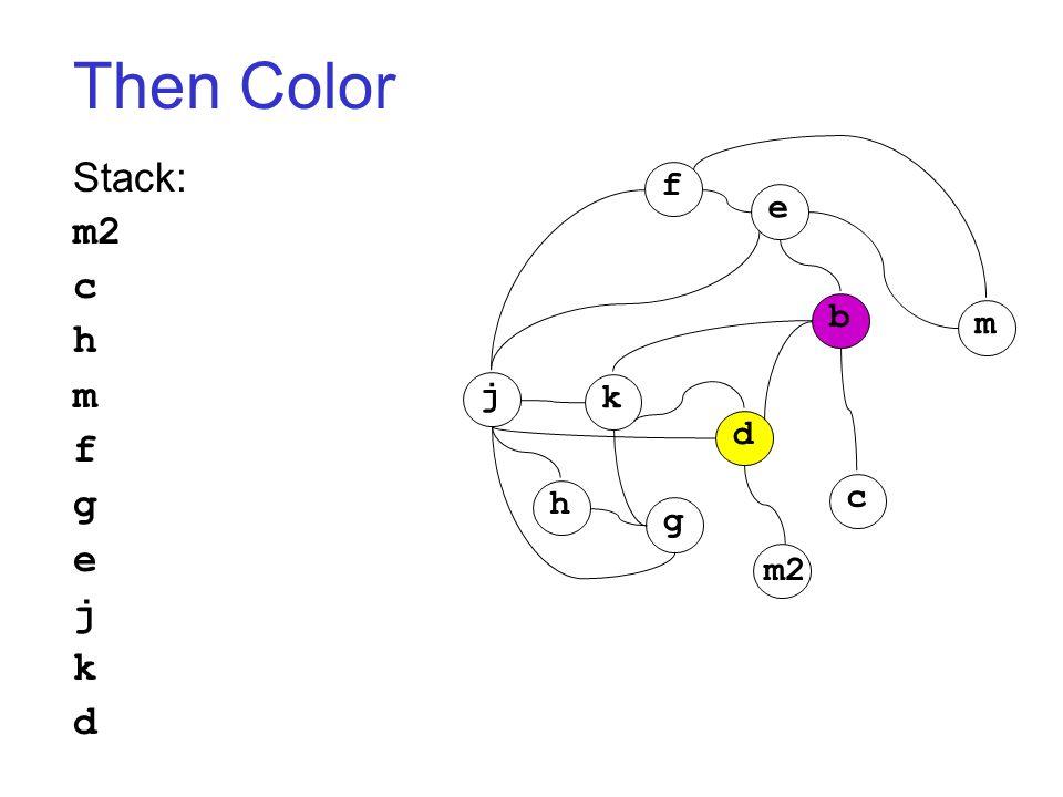 Then Color Stack: m2 c h m f g e j k d j k h g d c b m f e m2