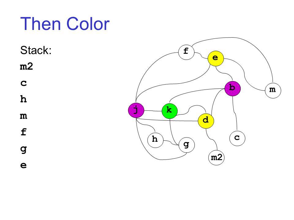 Then Color Stack: m2 c h m f g e j k h g d c b m f e m2