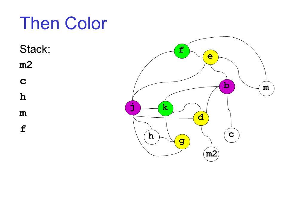 Then Color Stack: m2 c h m f j k h g d c b m f e m2