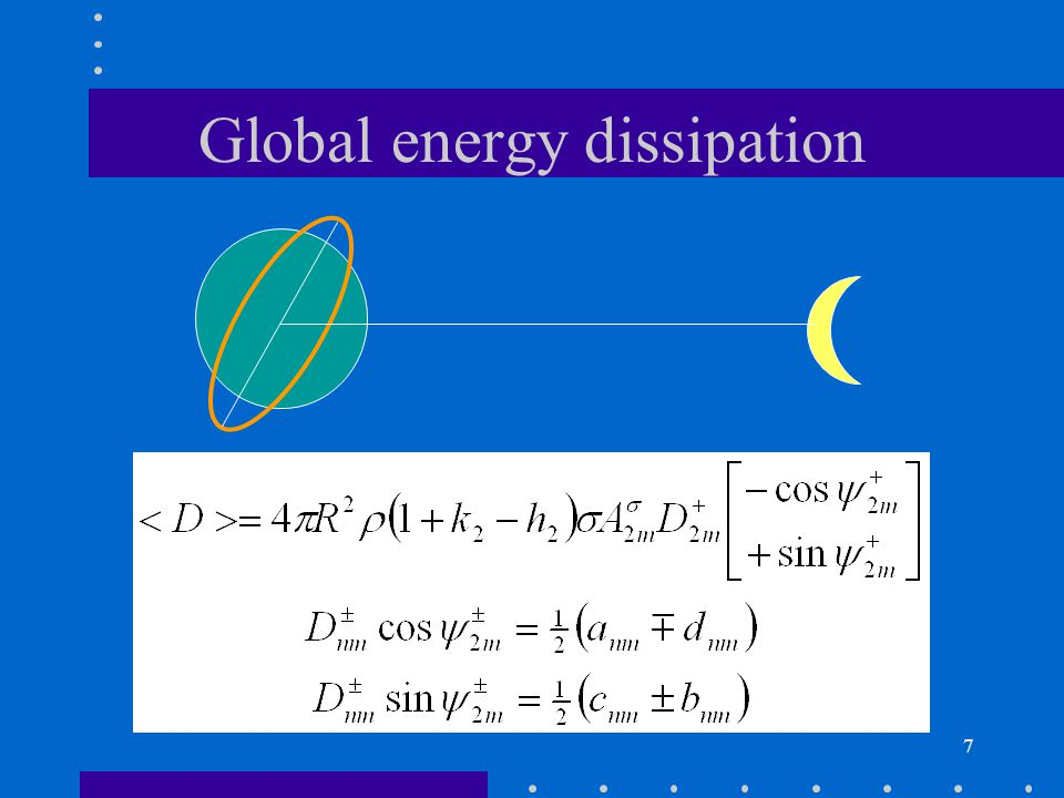 7 Global energy dissipation