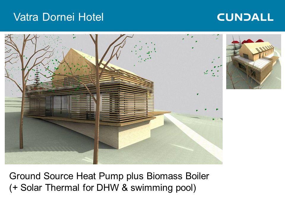 Vatra Dornei Hotel Ground Source Heat Pump plus Biomass Boiler (+ Solar Thermal for DHW & swimming pool)