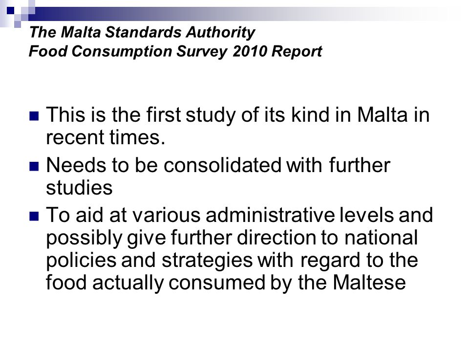 The Malta Standards Authority Food Consumption Survey 2010 Report Daily food (combined) intake at breakfast (means and 95% confidence intervals)
