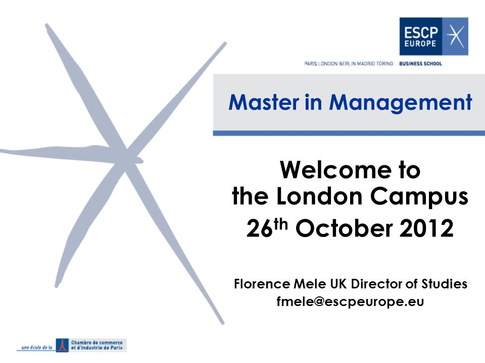 2 Introducing ESCP Europe ESCP Europe is the oldest business school in the world, founded in 1819 ESCP Europe has triple accreditation – AMBA (Association of MBAs) – EQUIS (European Quality Improvement System) – AACSB (Association to Advance Collegiate Schools of Business) Top 20 ranked business school in Europe (FT)