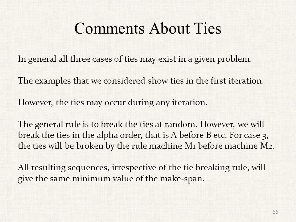 Example with Multiple Ties Consider the problem given below.
