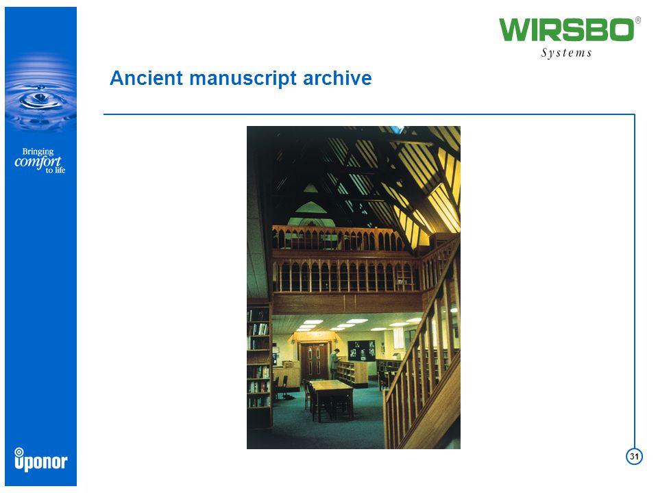 31 Ancient manuscript archive
