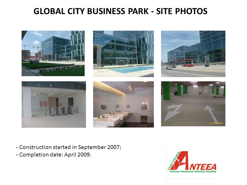 GLOBAL CITY BUSINESS PARK - SITE PHOTOS - Construction started in September 2007; - Completion date: April 2009.