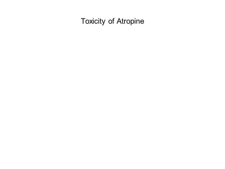 Toxicity of Atropine