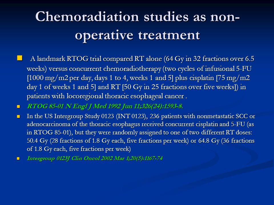Standard Chemotherapy regimens 5FU Based: 5FU Based: 5FU+Cis,ECF,TCF,Etoposid CF, 5FU+Cis,ECF,TCF,Etoposid CF, FOLFOX FOLFOX Capcitabin based Capcitabin based TCX,ECX, …..