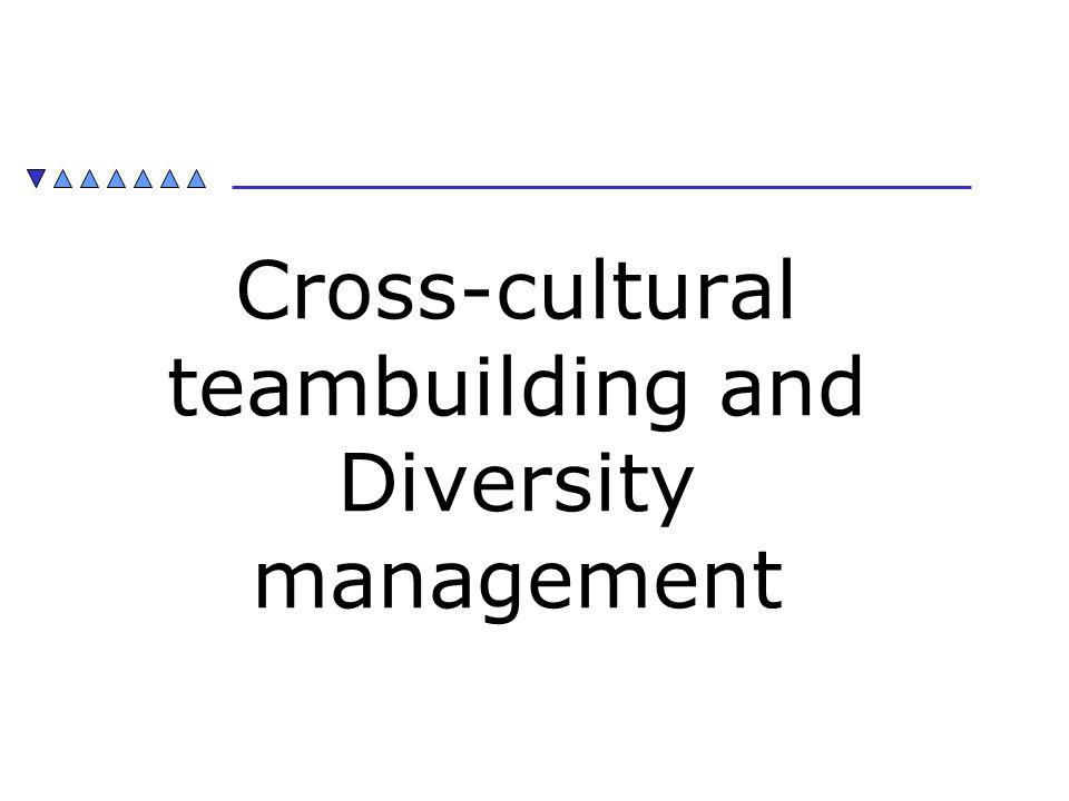 Cross-cultural teambuilding and Diversity management