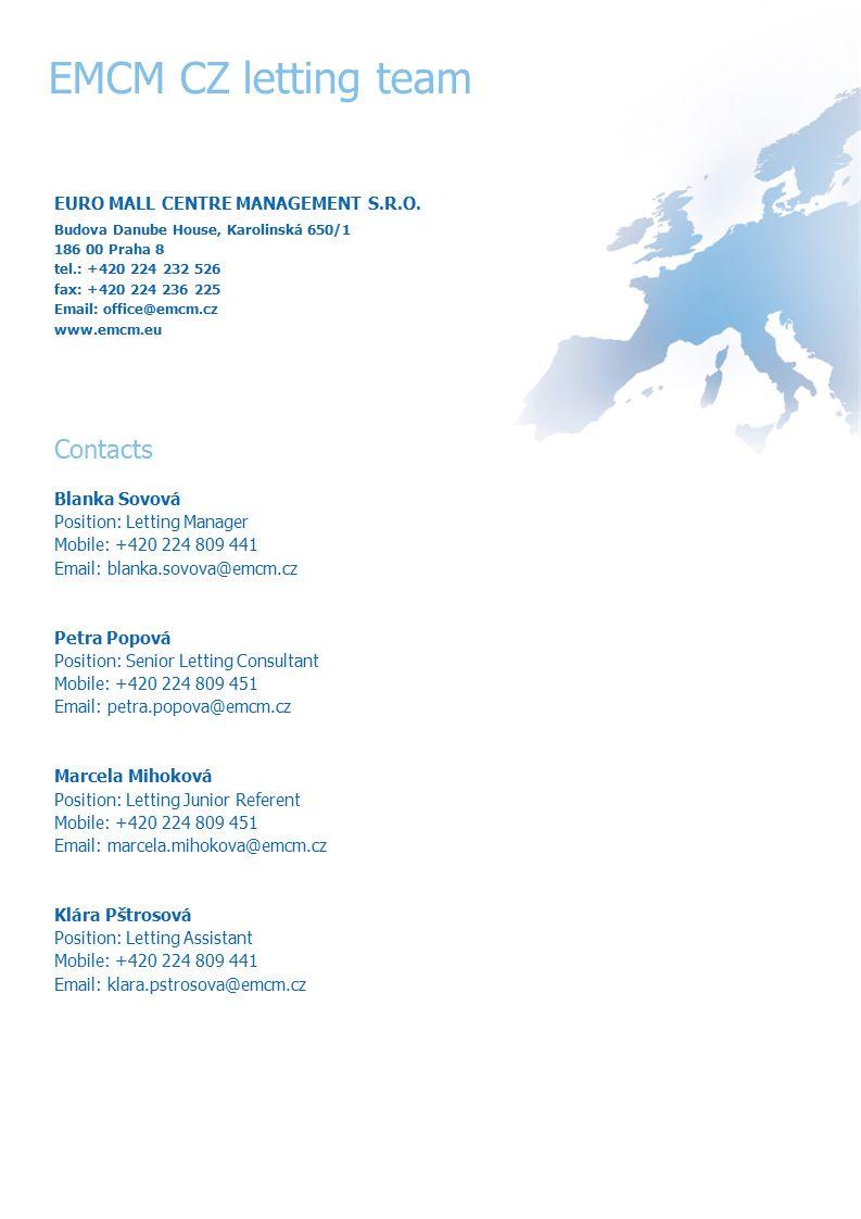 EMCM CZ letting team EURO MALL CENTRE MANAGEMENT S.R.O.
