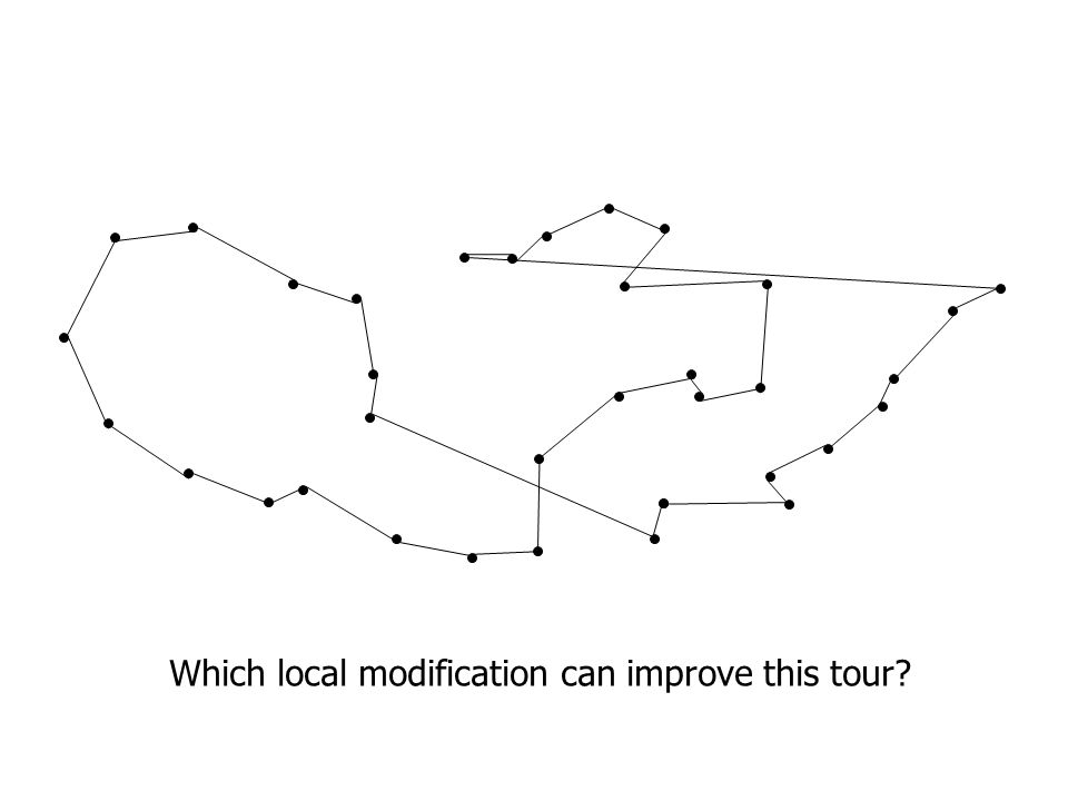 Which local modification can improve this tour