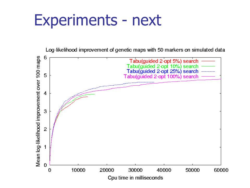 Experiments - next