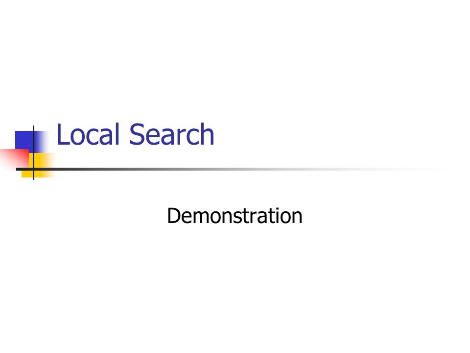 Local Search Demonstration