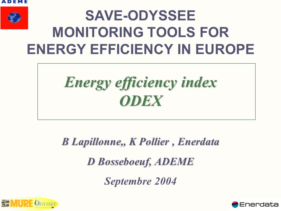 Why energy efficiency indices.