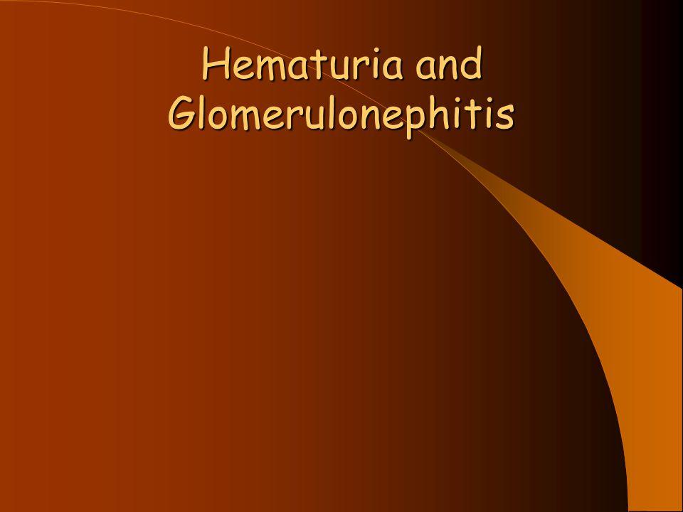 Hematuria and Glomerulonephitis