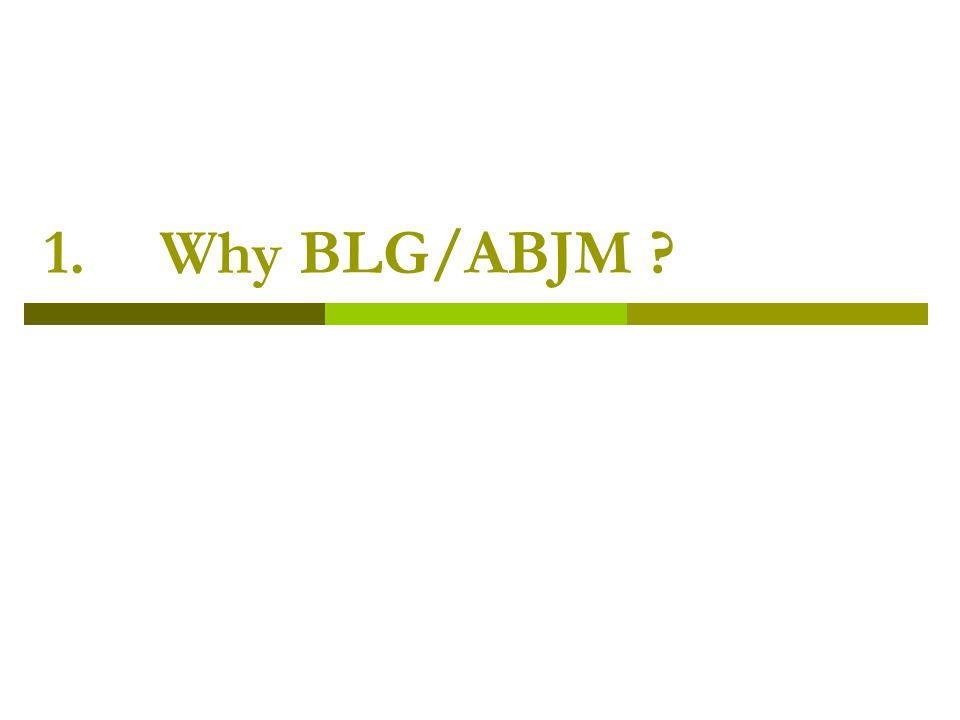 1.Why BLG/ABJM ?