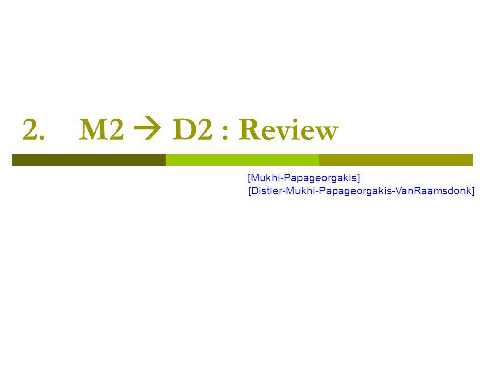 2. M2  D2 : Review [Mukhi-Papageorgakis] [Distler-Mukhi-Papageorgakis-VanRaamsdonk]
