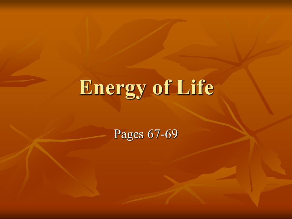 Energy of Life Pages 67-69