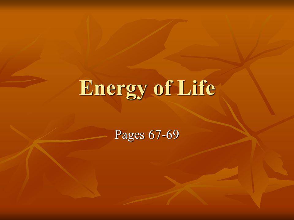 Energy Energy = capacity or ability to do work.