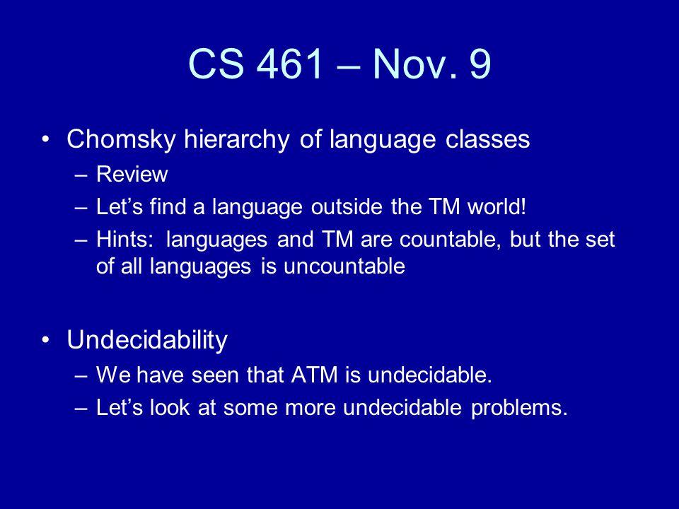 CS 461 – Nov.
