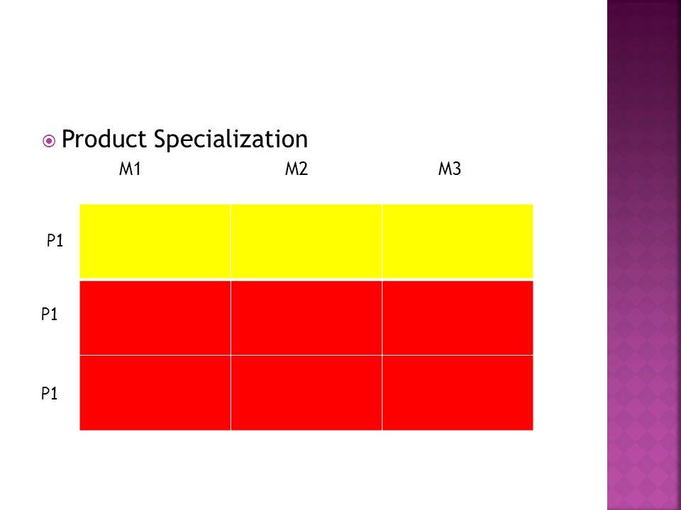  Product Specialization M1 M2 M3 P1