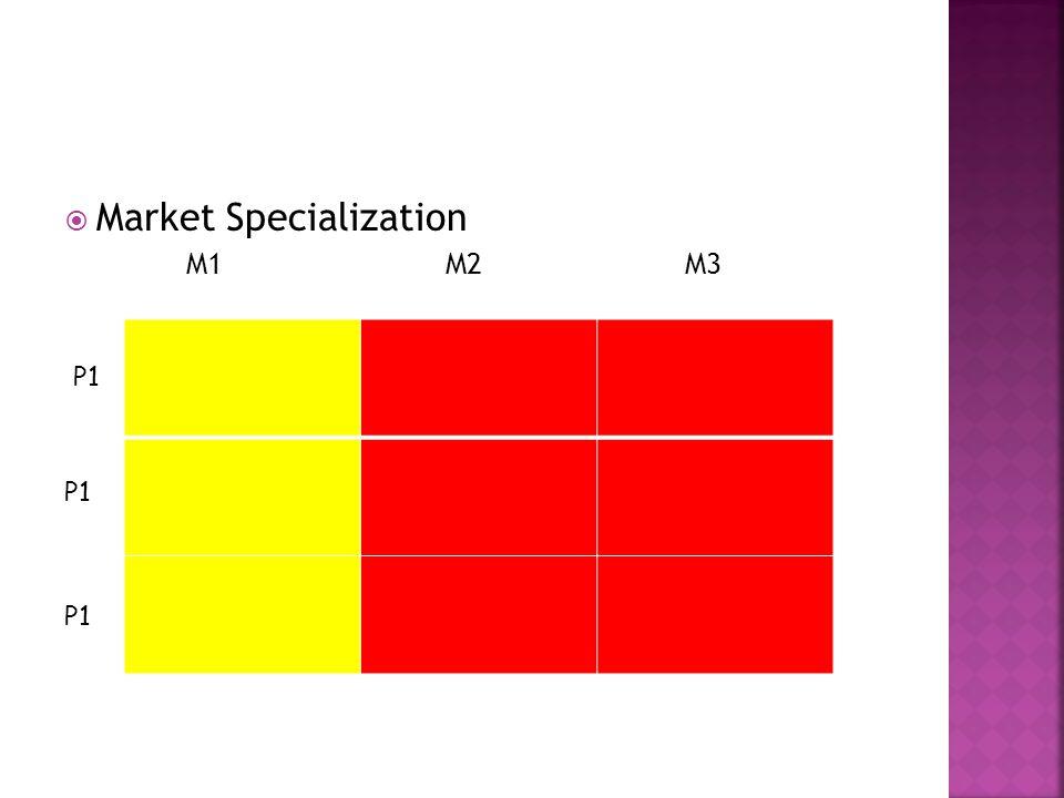  Market Specialization M1 M2 M3 P1