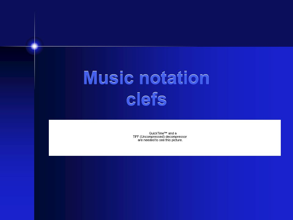 Music notation clefs