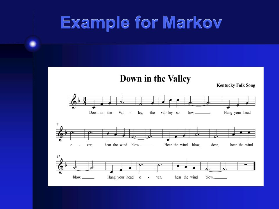 Example for Markov
