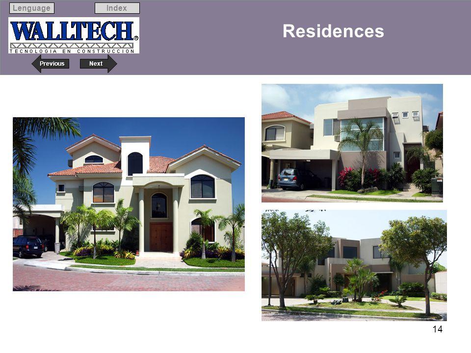 Next Previous IndexLenguage 14 Residences