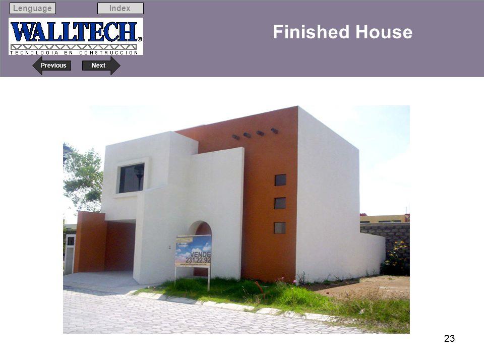 Next Previous IndexLenguage 23 Finished House