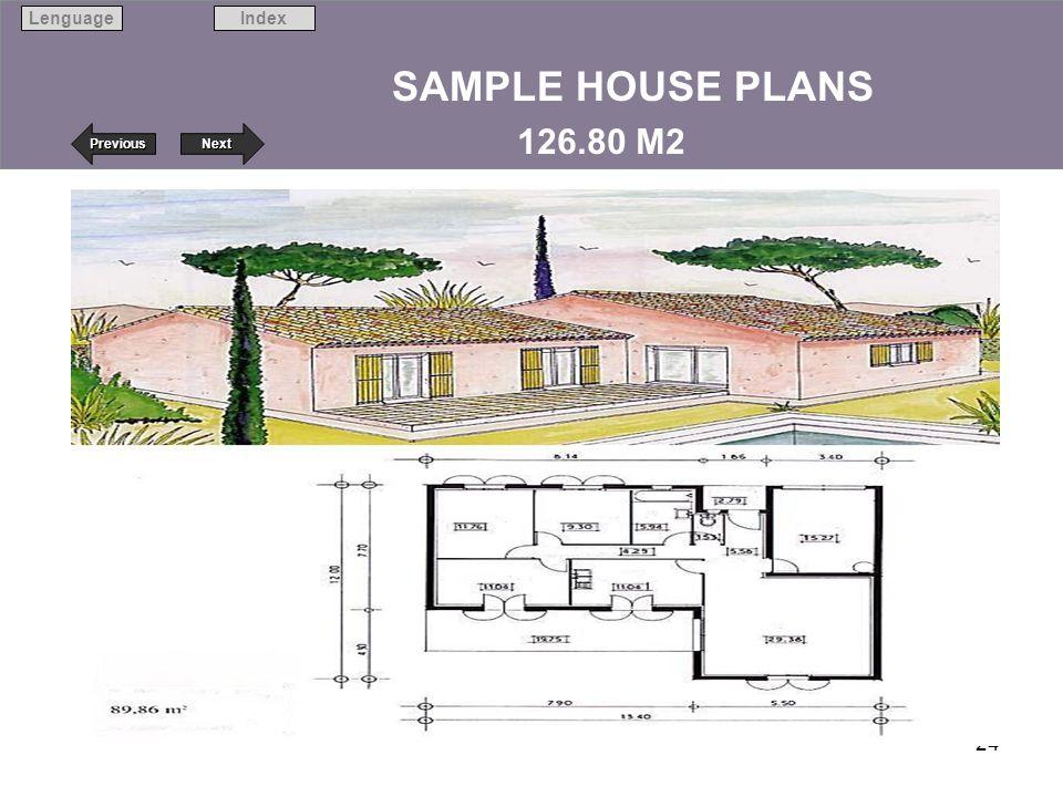 Next Previous IndexLenguage 24 SAMPLE HOUSE PLANS 126.80 M2