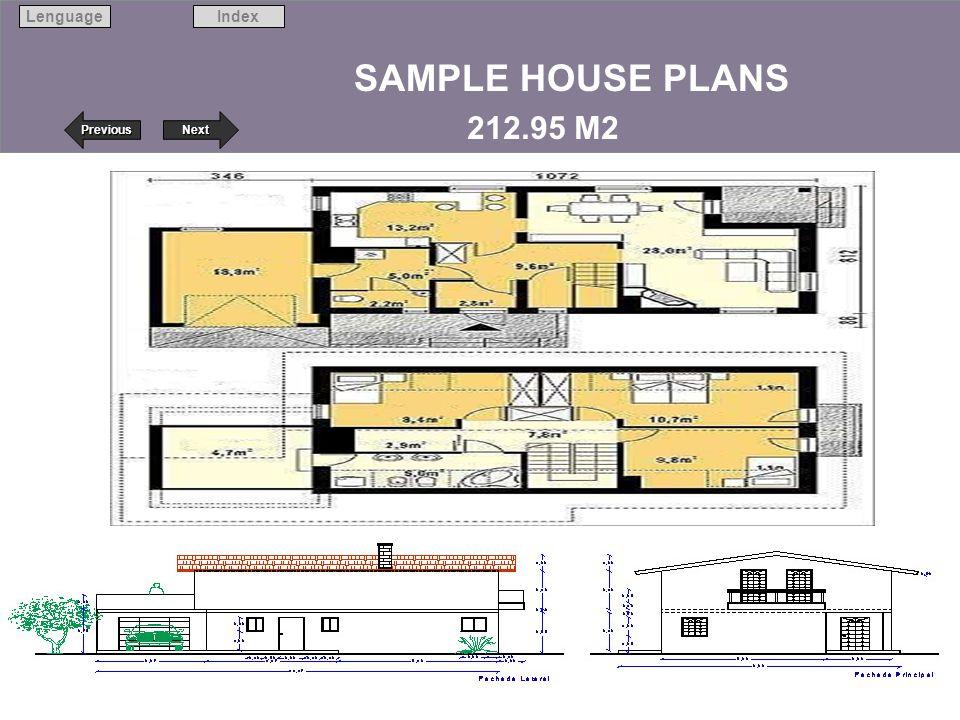 Next Previous IndexLenguage 25 SAMPLE HOUSE PLANS 212.95 M2