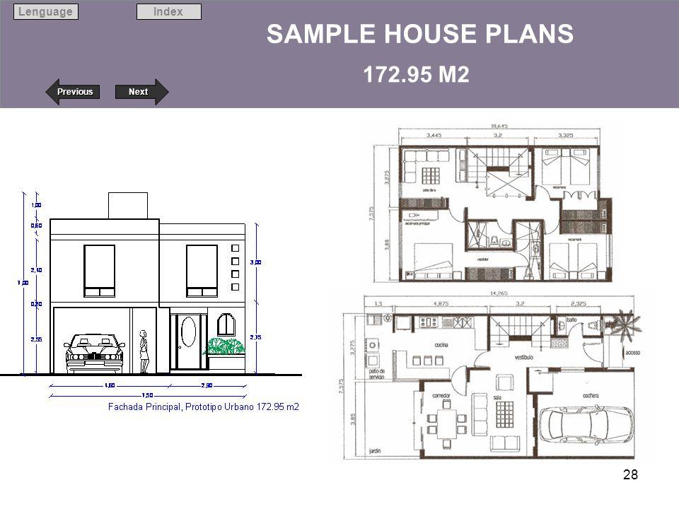 Next Previous IndexLenguage 28 SAMPLE HOUSE PLANS 172.95 M2