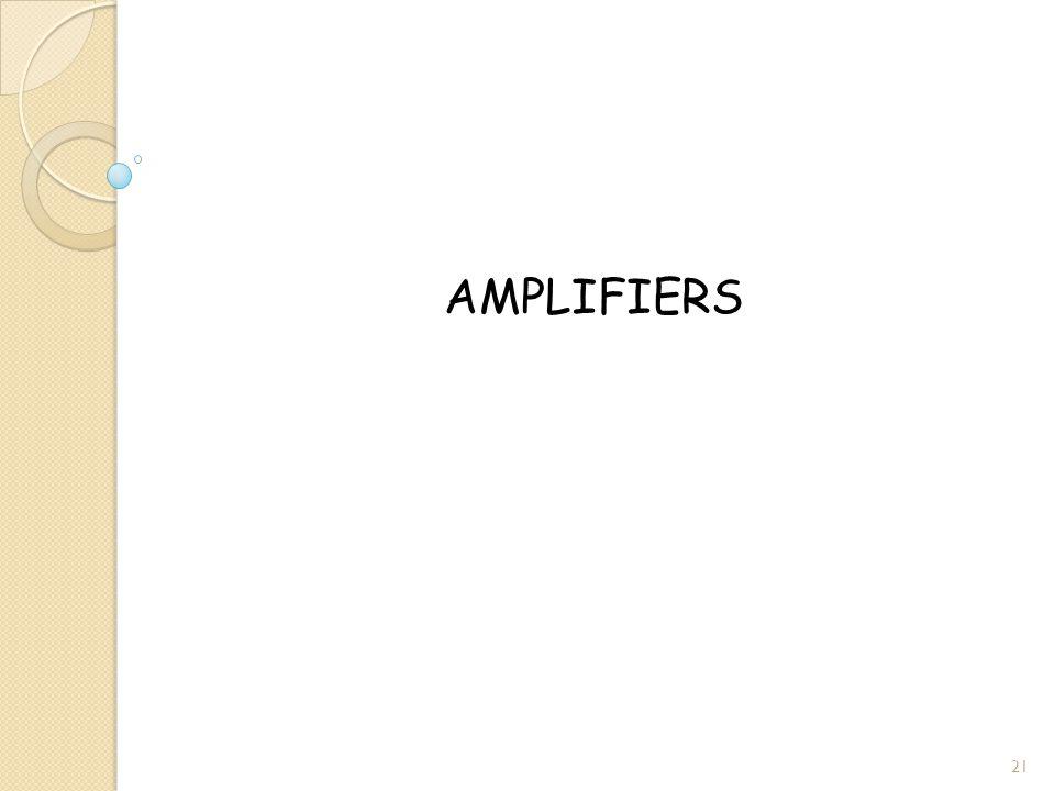 AMPLIFIERS 21
