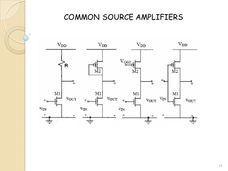 COMMON SOURCE AMPLIFIERS 24