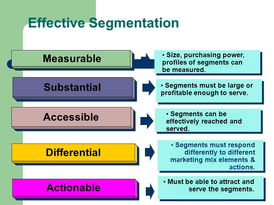 Bases for Segmenting Business Markets Demographic Operating Variables Purchasing Approaches Situational Factors Personal Characteristics