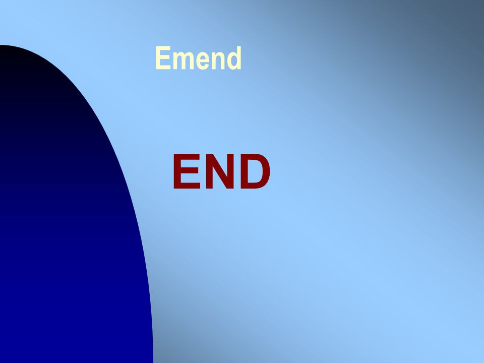 Emend END