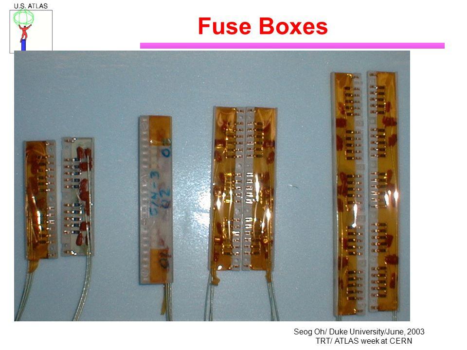 Seog Oh/ Duke University/June, 2003 TRT/ ATLAS week at CERN Fuse Boxes
