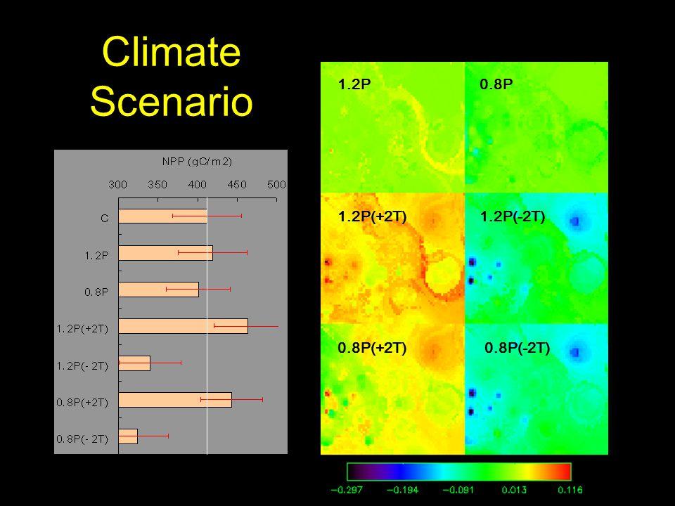 Climate Scenario 0.8P 1.2P(+2T) 1.2P 0.8P(-2T)0.8P(+2T) 1.2P(-2T)