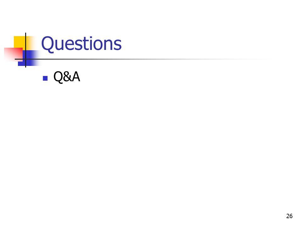 26 Questions Q&A