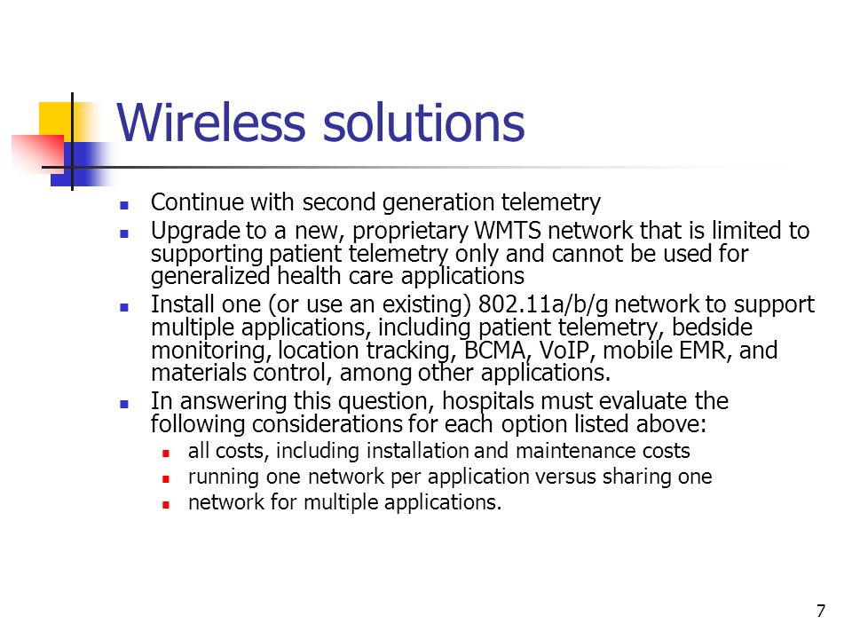 8 Wireless solutions (cont.)cont