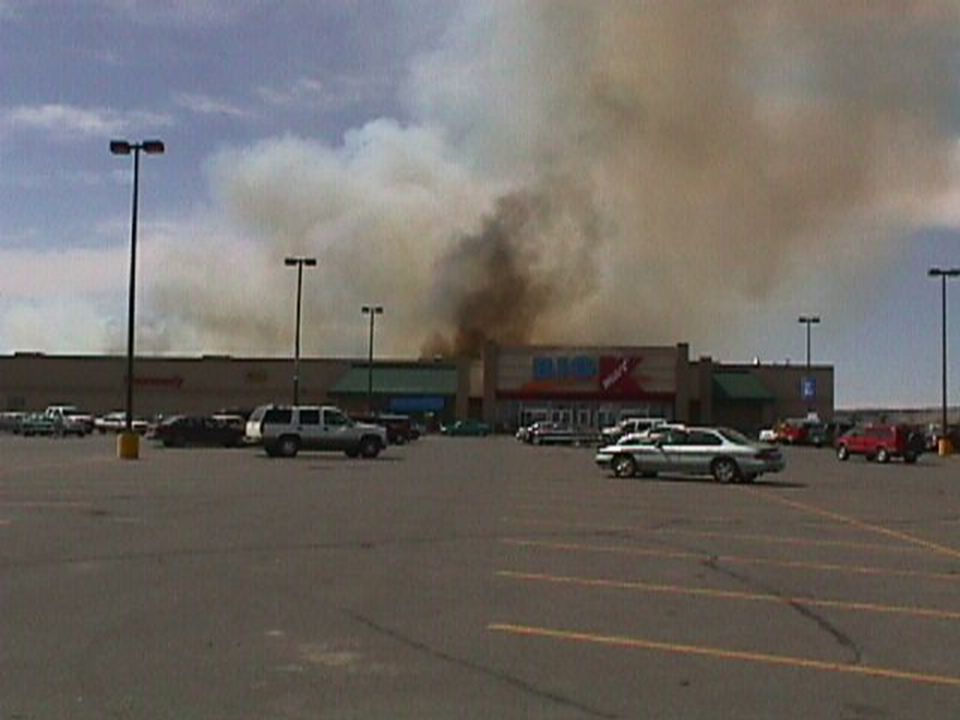 K-Mart Fire E1, E2 respond to K-Mart for a report of a fire.